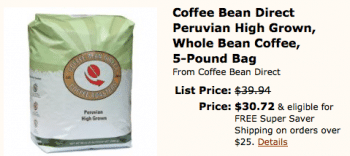 Save on Bulk Peruvian Coffee